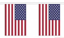 USA BUNTING - 18 METRES 30 FLAGS